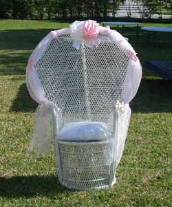 bridal shower chair rental white furry desk party miami accesories baby