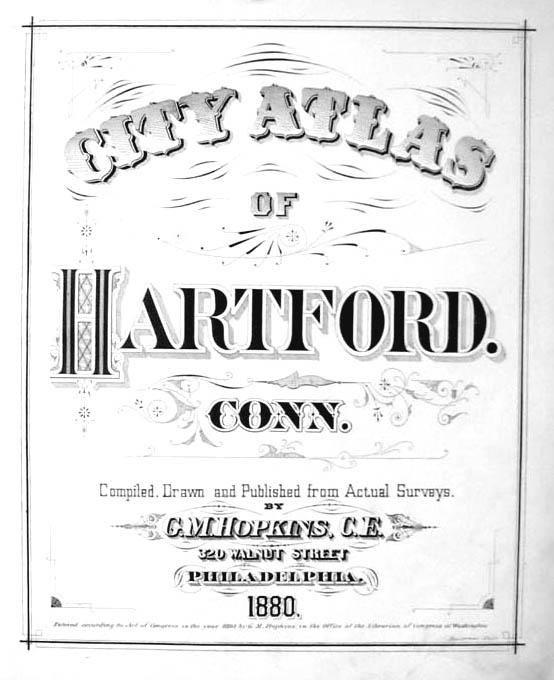 Hartford CT Map 1880 Ward 7 Spring Grove Cemetery Gen