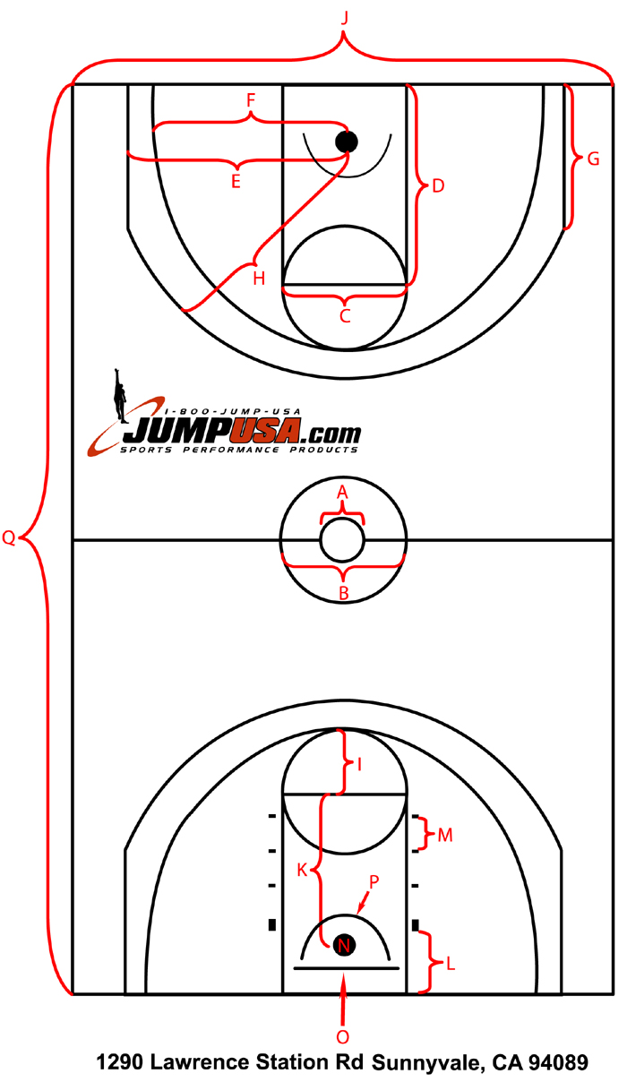 ncaa basketball court diagram rotary phase converter wiring superior marking system at jumpusa.com is your