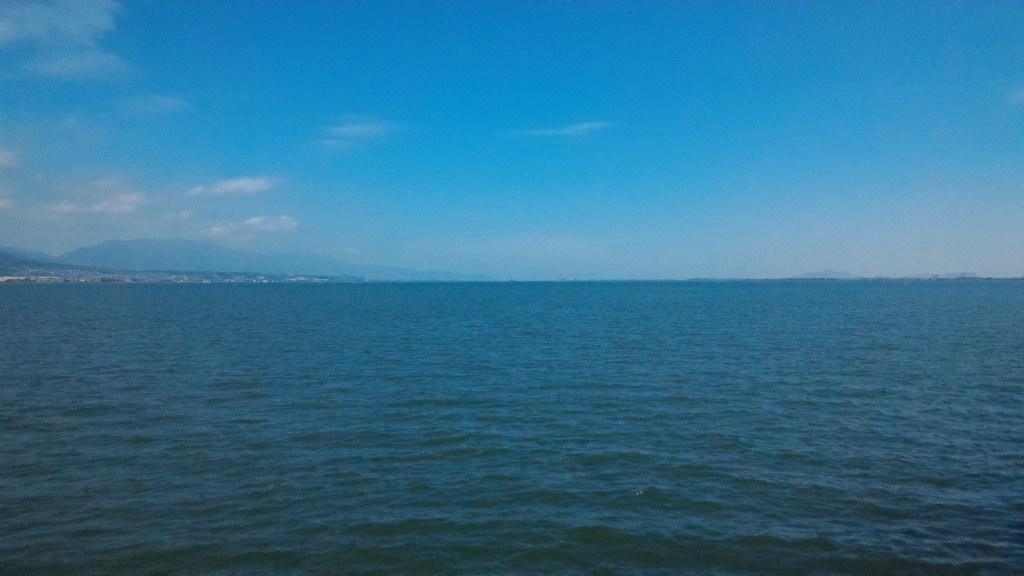 広大な琵琶湖