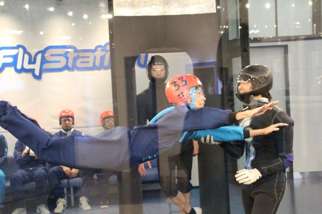 FlyStation Japanのインドアスカイダイビング