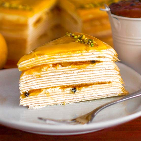 Sliced_Mango & Passion Fruit Mille Crepe
