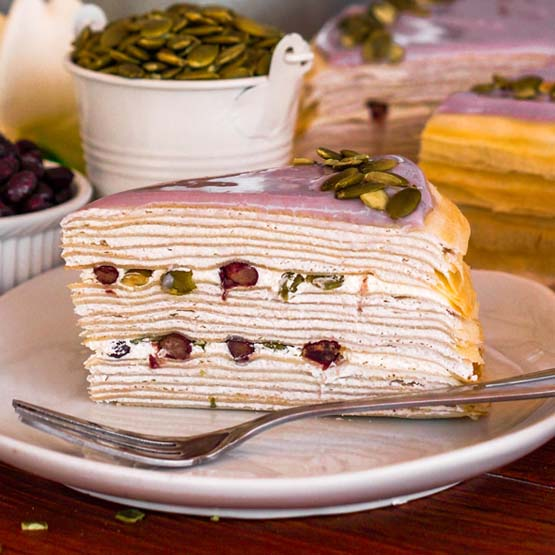 Sliced_Yam & Red Bean Mille Crepe
