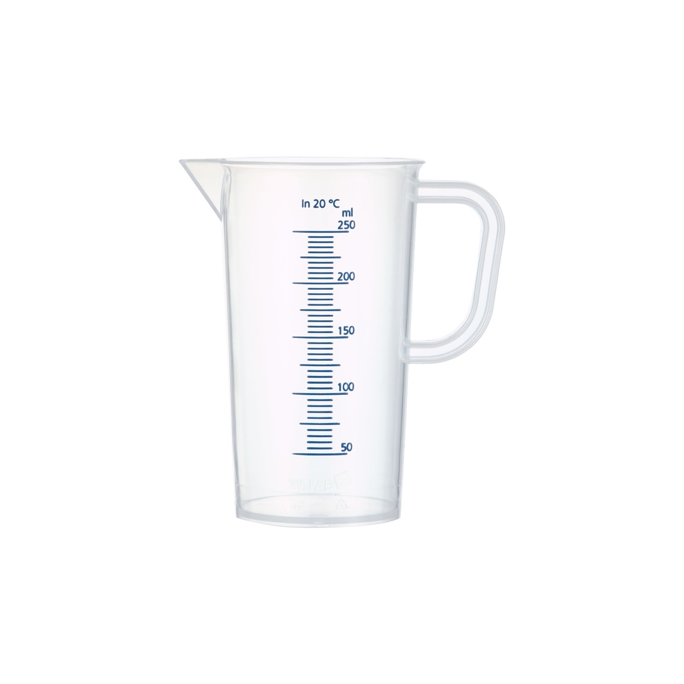 High Acid Resistant Blue Graduation PP Measuring Jug from