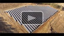 Dynamic Energy Solar Farm Build Progression Aerial Video