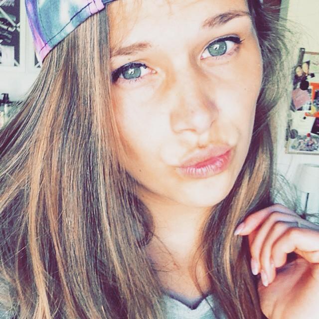 green eyes selfie