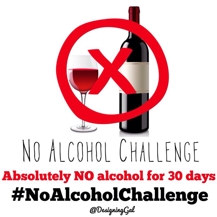 een maand geen alcohol drinken