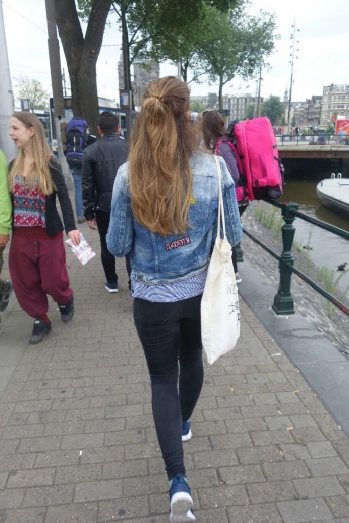walking in Amsterdam