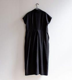 Black linen trenchcoat by June9Concept