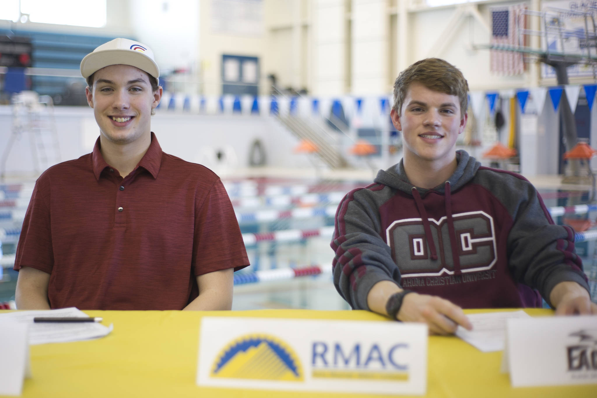 Thunder Mountain High School Swimmers Casey Hamilton, Left, And Bergen  Davis After Signing National Letter Of Intents At The Dimond Park Aquatics  Center On