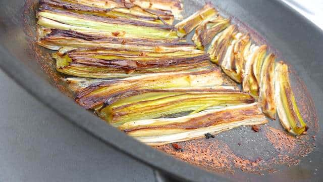 Baked leeks, how easy could a side dish be? Leeks are phenomenal to cook with. The longer you cook them, the better they become.