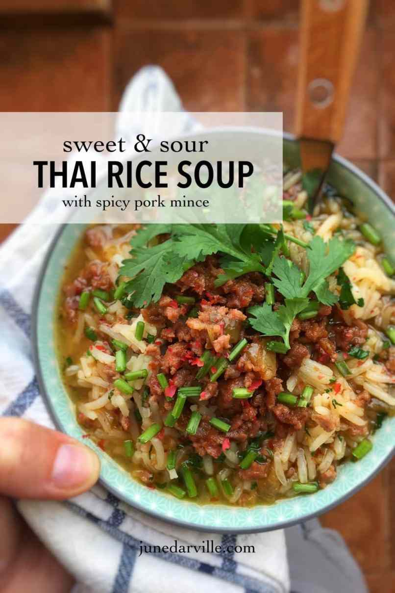 This Thai rice soup recipe was my favorite kind of breakfast when we were traveling around in Thailand a couple of years ago...