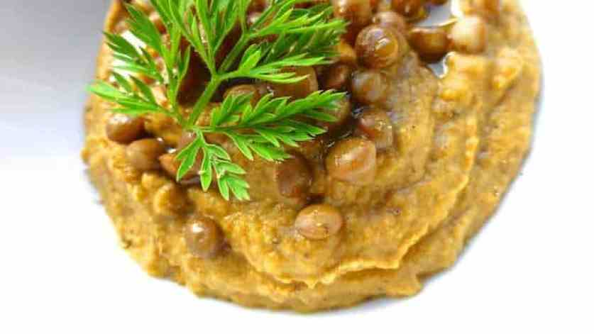 Twenty minutes is all it takes to make this gorgeous little lentil dip! Serve it for lunch with a slice of toast or as a dipping sauce...
