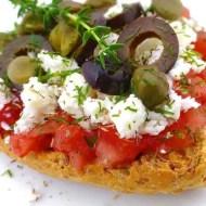 Ntakos (Cretan Tomato & Feta Rusks)