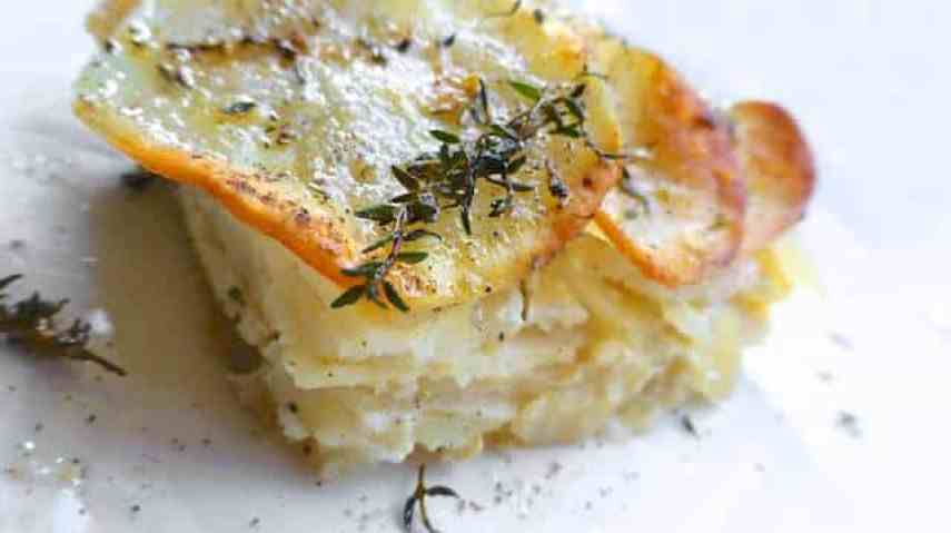 My creamy parsnip potato bake recipe: scalloped potatoes and parsnips simmered in cream and milk, this one always tastes good...