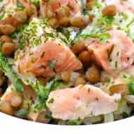 Easy Salmon Salad Recipe with Yogurt
