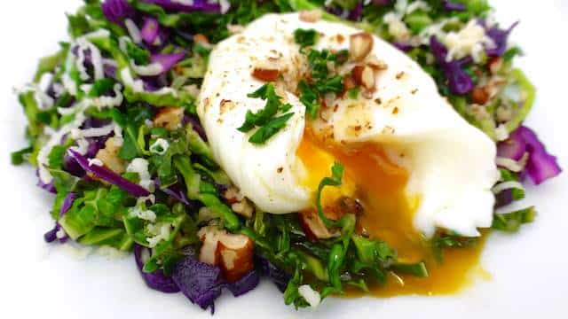 Don't let that poached egg scare you off now! This delicious egg and cabbage stir fry is far more easier to prepare than you might think...