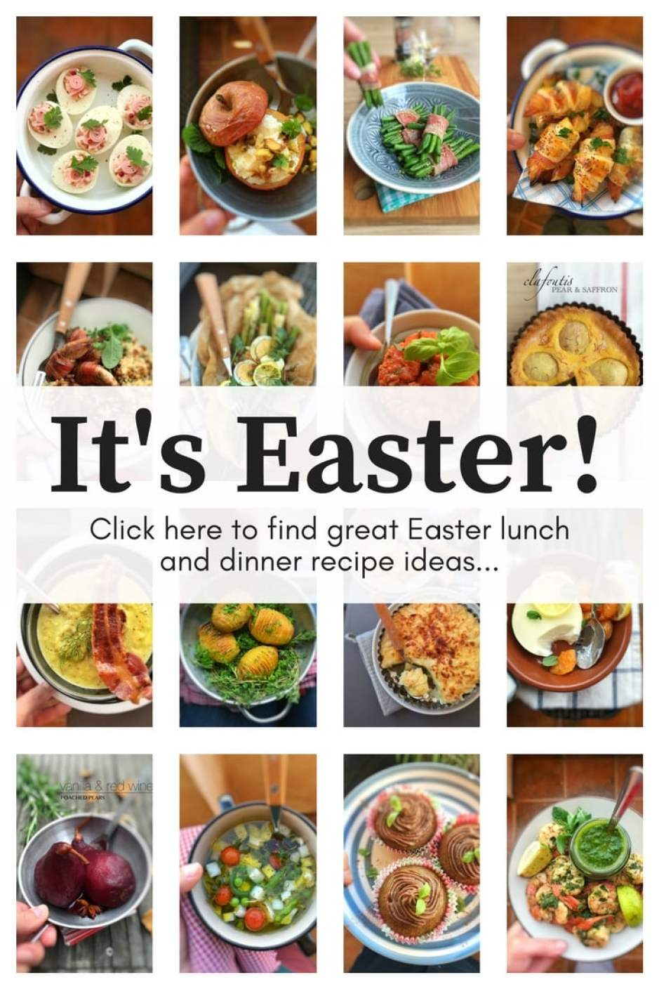 Time again to start thinking about Easter dinner recipes! How about a number of recipe ideas to get you started?