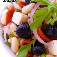 Easy Bean And Feta Salad with Lemon Dressing