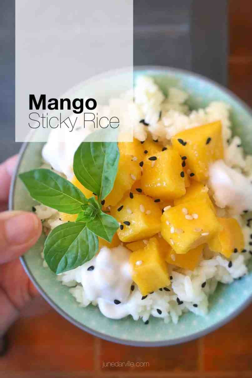 Learn how to make mango sticky rice, probably Thailand's most popular dessert! Sugary coconut milk rice with sweet mango...