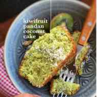 Easy Kiwifruit Cake with Coconut & Pandan