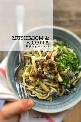 Best Garlic & Ricotta Mushroom Spaghetti