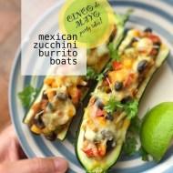 Easy Mexican Zucchini Burrito Boats