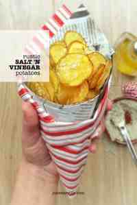Rustic salt and vinegar potatoes, finger licking good... Love salt and vinegar potato crisps? Then you'll adore this recipe as well!