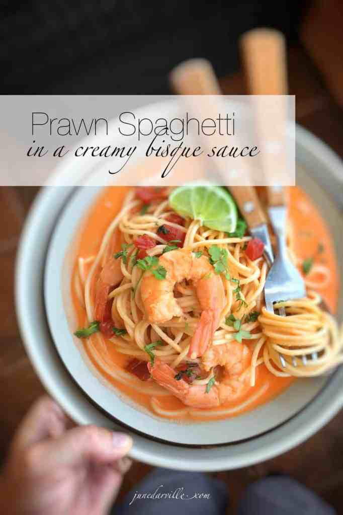 Creamy, creamier... creamiest! You will adore this super easy prawn spaghetti with bisque sauce. Pasta and prawns, what's not to love!
