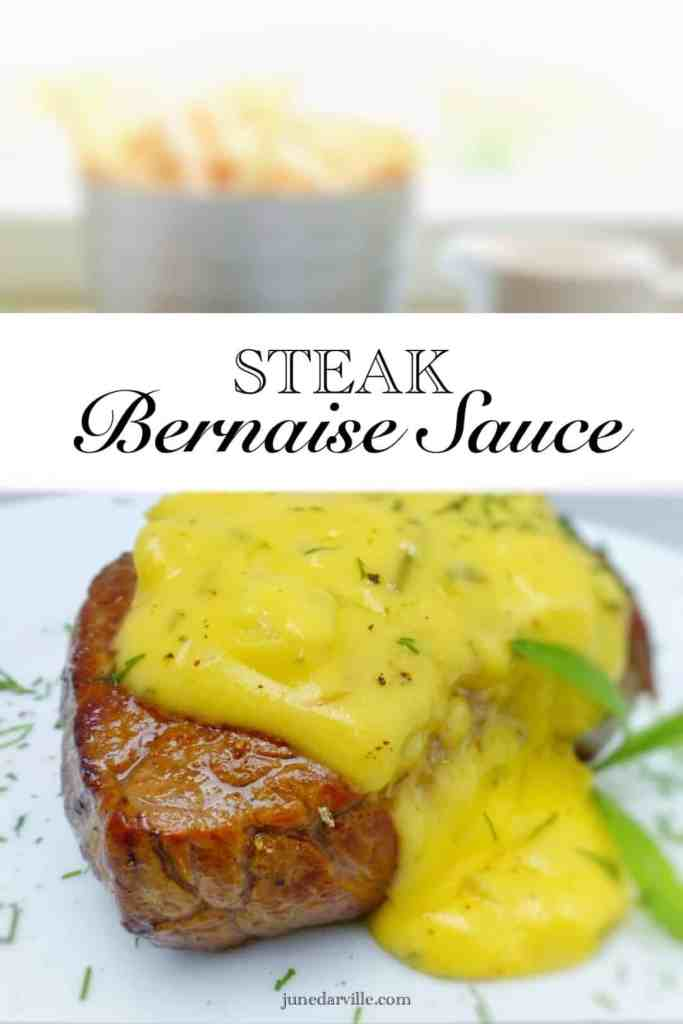 You'll love this bernaise sauce recipe: homemade creamy tarragon and butter sauce for your next steak dinner!! Bearnaise, a French classic.