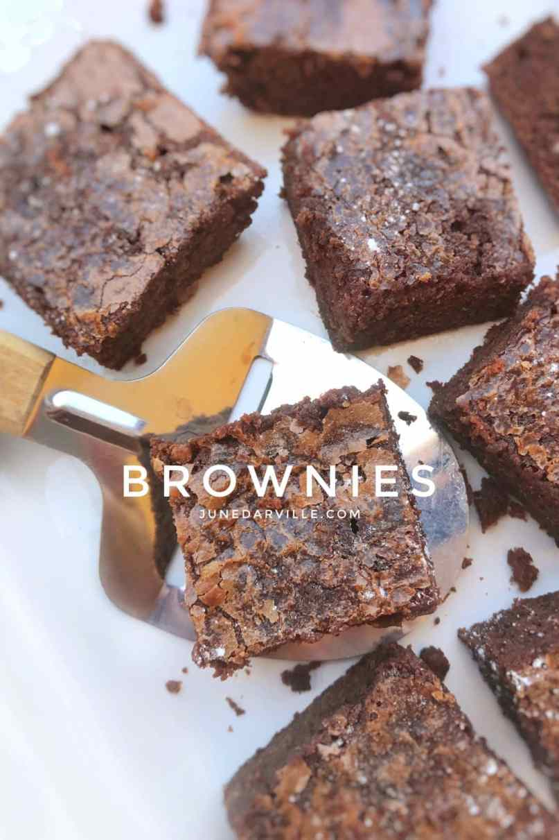 Here's a great dessert recipe! My best brownies... Butter, chocolate, flour, eggs and sugar is all you need to make this sticky chocolate treat!