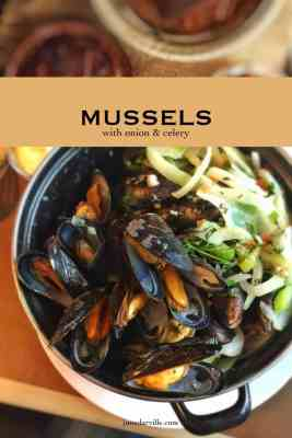 Easy Mussels with Celery & Onion Recipe