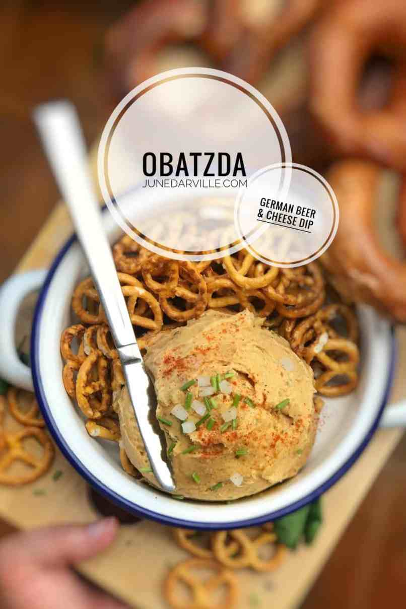 Do you know Obatzda? It's a super creamy cheese dip from Bavaria (Germany) containing camembert, butter, beer and fresh chives!