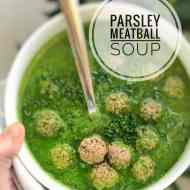 Easy Parsley Soup with Meatballs