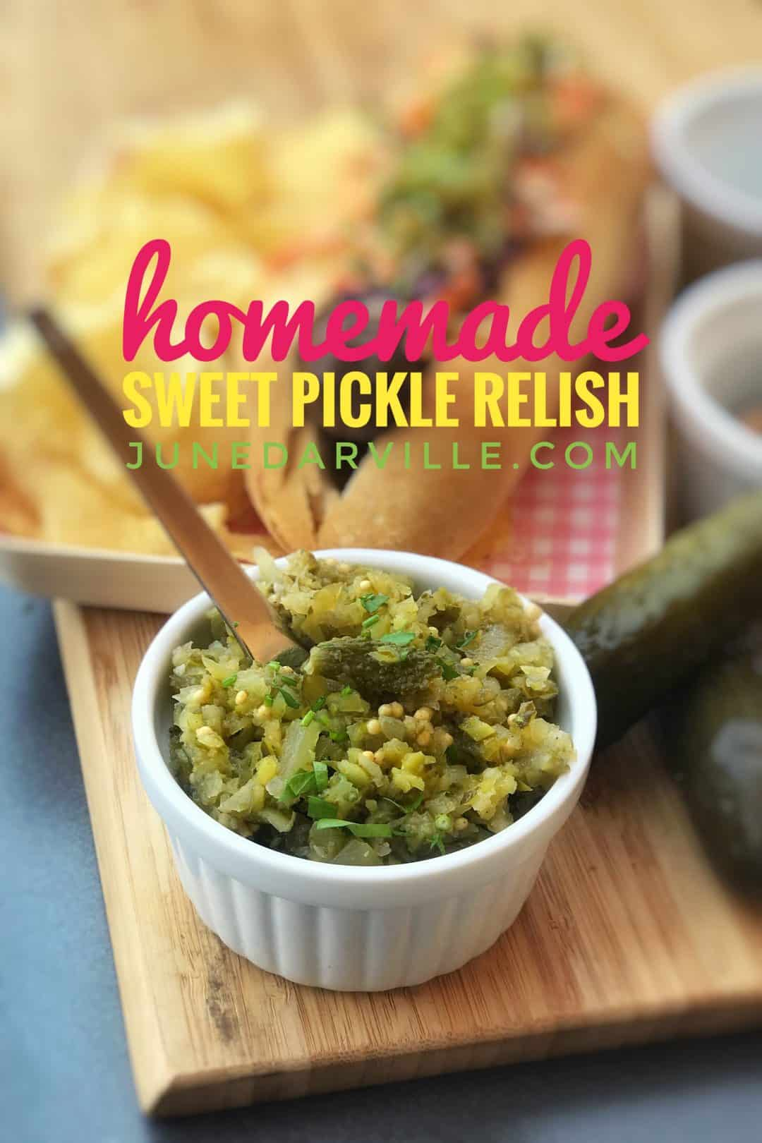 Easy 5 Minute Sweet Pickle Relish Recipe Simple Tasty Good