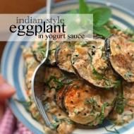 Easy Eggplant with Yogurt Sauce