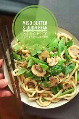 Quick Flat Bean Stirfry with Miso Butter