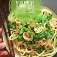 Quick Miso Butter Flat Bean Stirfry