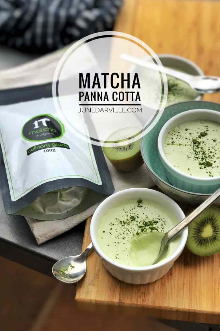 My green tea panna cotta with premium Uji matcha from 1Tmatcha is a total show stopper: creamy, zesty, flavorful, light, umami, melts in your mouth!