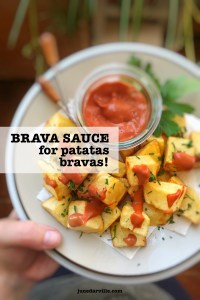 Here's the creamiest brava sauce recipe you will ever taste: the best Spanish brava sauce to dip your homemade patatas bravas in! It's tapas time.
