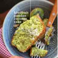 Easy Coconut & Pandan Kiwi Cake Recipe