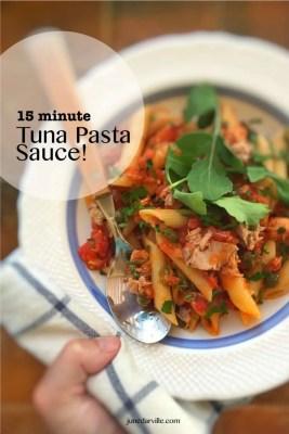 15 Minute Easy Tuna Pasta Sauce