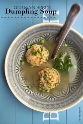 Easy German Speck Dumpling Soup