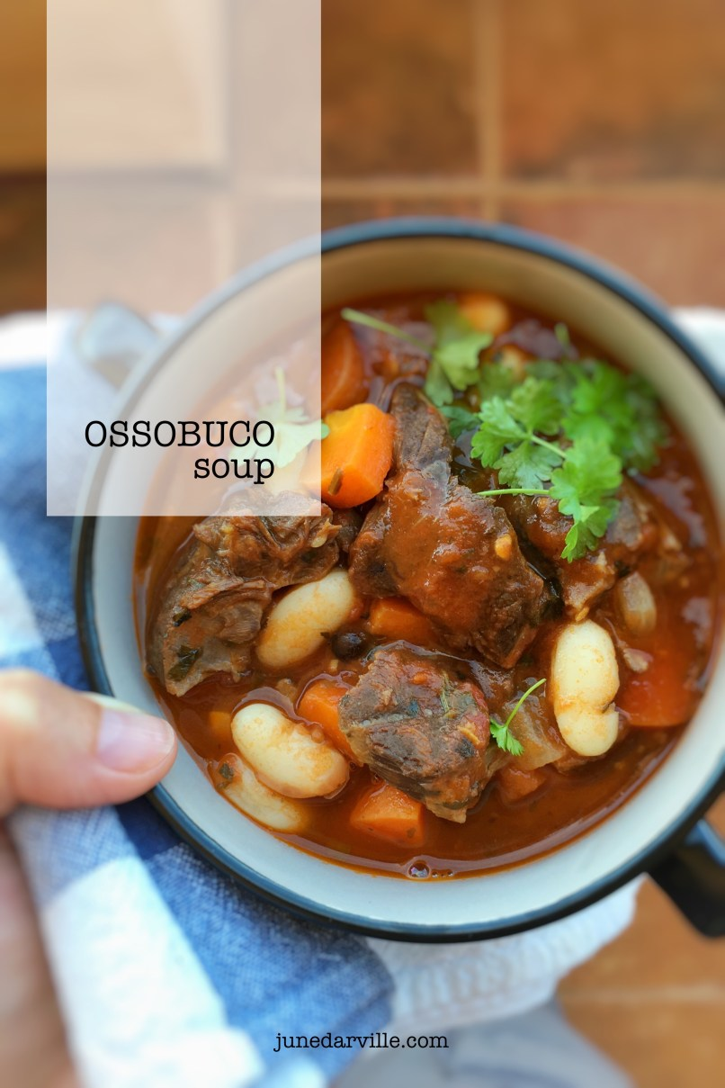 Leftover osso buco stew in the fridge? Make this heartwarming leftover osso buco soup the day after and enjoy this veal classic twice!