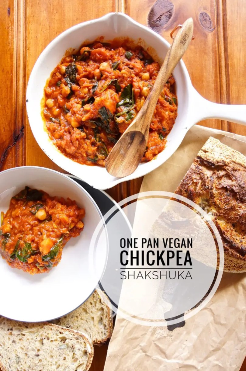 Here's how to make a one pan vegan chickpea shakshuka that everyone will want to eat, even meat-eaters. Packed with spices and veggies, it's a dish for any time of day.