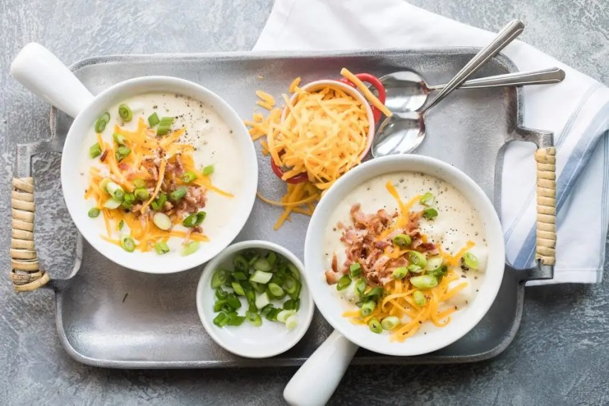 Creamy potato soup, that is the ultimate comfort food... Check out these 20 delicious potato soup recipes from my favorite food bloggers!
