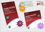 A5 Clear Display Stands and A6 Double-sided Name Plates
