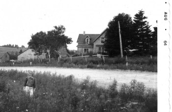 Heather across the road from the farm in 1964