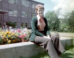 Visiting Heather at Mt. Allison University in summer 1976.