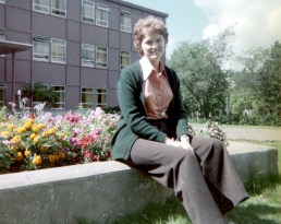 Visiting Heather at Mt. Allison University in summer 1976.
